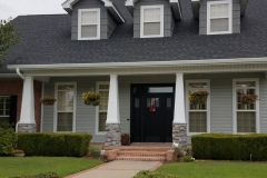 Glacier White Gutters & Driftwood Gray Siding