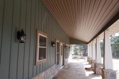 Willow Board & Batten & Cedarwood Soffit