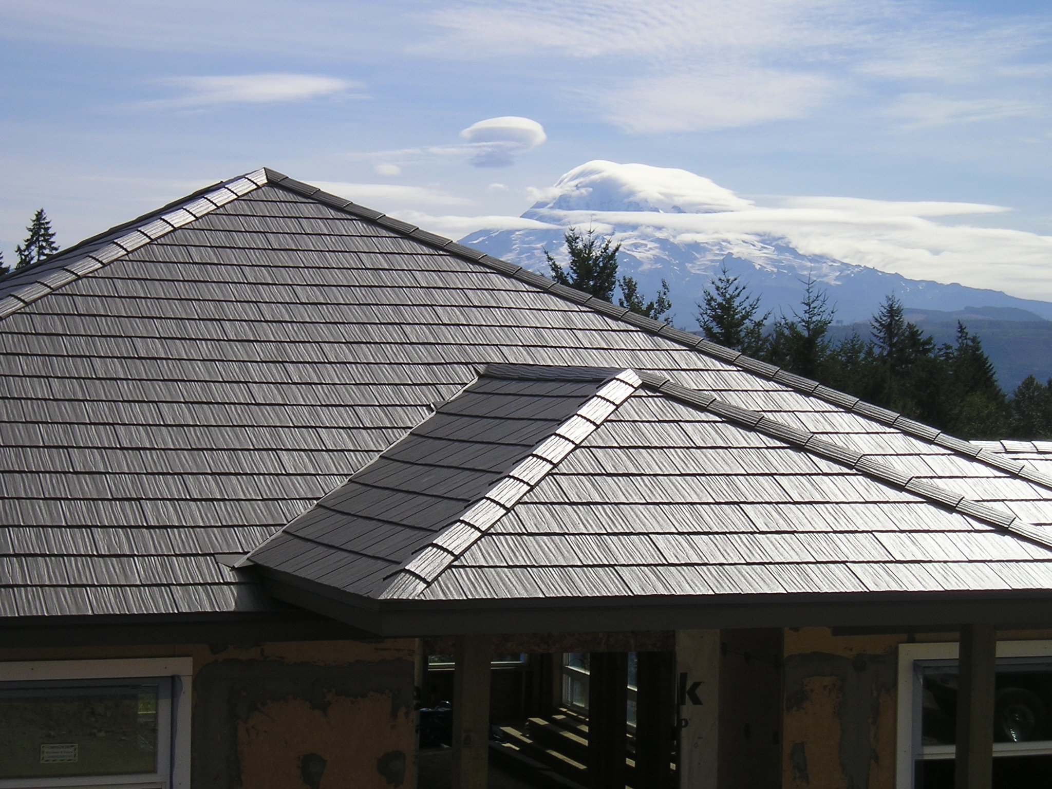 Metal roofing steel roofing roof installation for Homes with metal roofs photos