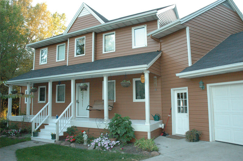House siding options abc seamless for Log siding options